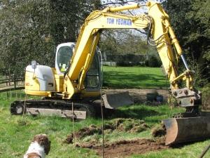 Pond digging